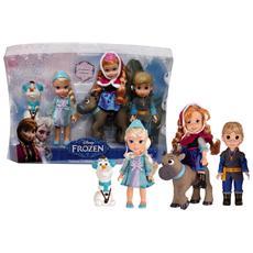 Mini Personaggi Frozen - Elsa Anna Kristoff Olaf Sven 15 Cm Con Accessori