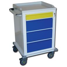 Modular Trolley - Painted Steel - 1+3 Drawers
