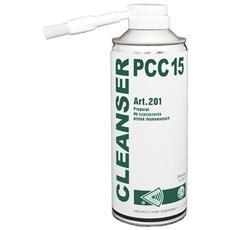 Detergente Spray Con Spruzzino E Pennello Pulisci Contatti E Saldature Cleanser Pcc 15 Art. 201 Isopropanolo 400 Ml