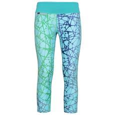 Pantalone Donna L. 6/8 Verde Fantasia Xs