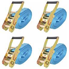 Cinghie d'Ancoraggio 4 pz a Cricchetto 4 T 8mx50mm Blu
