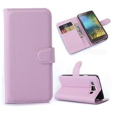 Custodia Portafogli Rosa per Samsung Galaxy E5 E500 SM-E500F + Pellicola e Panno