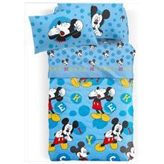 Trapuntino Copriletto Trapuntato 1 Piazza Singolo Mickey Mouse Disney