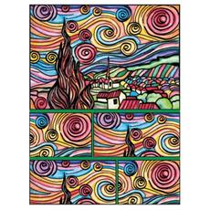 Box09 Scatola Van Gogh Notte Stellata