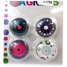set di 4 magneti 'coloriage' violetta - [ l7755]