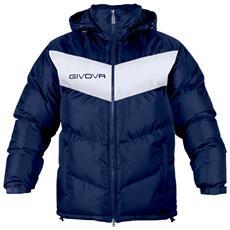 Giubbotto Podio Givova - Con Cappuccio Removibile Di Colore Blu / bianco Taglia 3xl