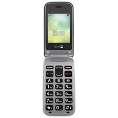 "2424 Senior Phone Display 2.4"" Bluetooth Fotocamera Tasti Grandi + SOS Colore Graphit Silver-Europa"