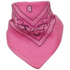Sciarpa motivo Paisley 100% cotone rosa