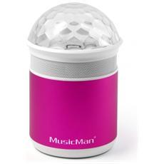 MusicMan BT-X17 Speaker 1-Via 4W Bluetooth - Rosa