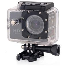 """Action Camera 2"""" Risoluzione 1080 P H. 64 Full Hd Water Resistant 30 M"""