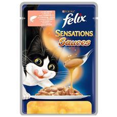 Sensations Gatto, Salsa Salmone E Gamberetti 100gr.