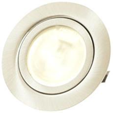 Faretto Rotondo Da Incasso Bianco Maia Con Bispina 12v 20w G4