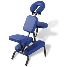 Sedia Massaggio Pieghevole E Portatile Blu