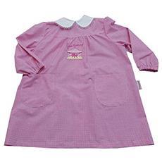 6aa627326e AMBROSINO - Grembiule Asilo Quadri Rosa Scuola Materna Per Bambina Taglia  30 Mesi