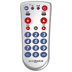 UR Z2, Argento, TV, Set-top box TV, Pulsanti, 7m, AA