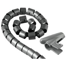 Cable Bundle Tube Easy Cover, 1.5 m, 30 mm, silver