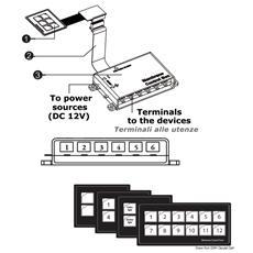 Pannelli elettrici Touch Control 6 interruttori