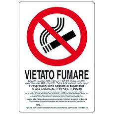 "Cart. ""vietato Fumare"" 30x20pl"