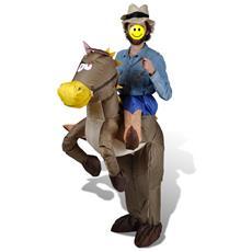 Costume Gonfiabile Cowoby E Cavallo