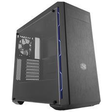 Case MasterBox MB600L Blue Middle Tower ATX / Micro-ATX / Mini-ITX 2 Porte USB 3.0 Colore Nero (Finestrato)