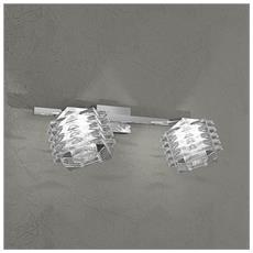 Lampada Da Parete Led 2xg9 Metallo Cromato L 36 X 17 Cm