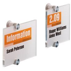 targa per porte / pareti crystal sign 210x210mm durable