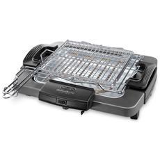 BQ60. X Griglia barbecue elettrica 28 x 27 cm Potenza 1900 Watt
