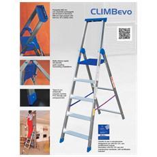 Scala Sgabello Climb Evo 6 Gradini Alluminio