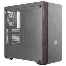 Case MasterBox MB600L Middle Tower ATX / Micro-ATX / Mini-ITX 3 Porte USB Colore Nero-Rosso (Finestrato)