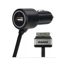 Car auto rugged 4.8amp 30 pin + porta usb 2.4 amp