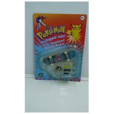 Pokemon Mini-skateboard Portachiavi Con Ruote E Accessori - Gengar - 8000144512157