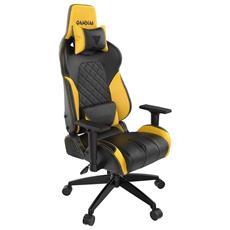 Drakon RGB Sedia Girevole ergonomica con poggiatesta e Supporto Lombare Verde Gaming Sedia con Schienale Alto