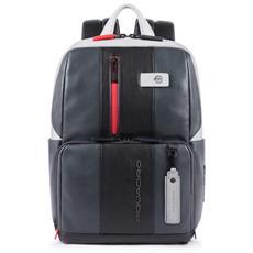 4e922ed568 PIQUADRO - Zaino Porta Pc E Porta Ipad® In Pelle - Ca3214ub00bm -  Grigio-nero
