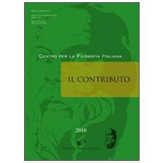 Il contributo (2010) . Vol. 3