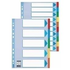 A4 Esselte 100192 Intercalari in cartoncino 6 tasti colorati