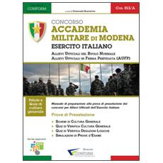 Concorso accademia militare di Modena. Esercito italiano. Prova di preselezione