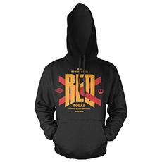 Felpa Star Wars Episode Vii Hooded Sweater Red Squad Size Xl