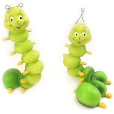 insieme delle figure 'couple chenilles' verdi - [ k6848]