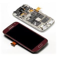 Completa Frontale con LCD e Touchscreen per Galaxy S4 Mini Rosso GH97-14766F