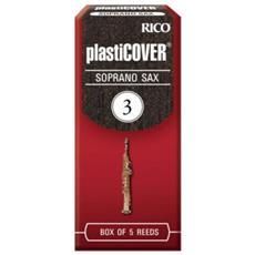 Confezione Da 5 Ance Rico Plasticover Per Sax Soprano Misura 3