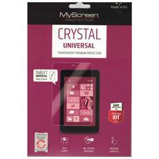 """Pellicola Universale Crystal In Policarbonato Antigraffio Alta Qualità 3h Per Tablet Fino A 8"""""""" Con Istruzioni Di Montaggio148x220 Mm"""
