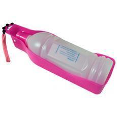 Bottiglietta Ciotola Acqua Rosa 600 Ml Animali Cani Gatti Viaggio