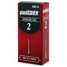 Confezione Da 5 Ance Rico Plasticover Per Sax Soprano Misura 2