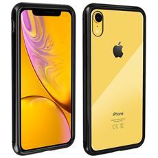 Iphone Xr Cover Bumper Magnetica Effetto Specchio Trasparente Bordi Neri