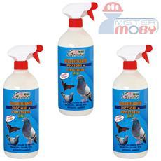 Repellente disabituante allontana piccioni uccelli volatili naturale spray 3x 1 lt