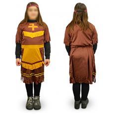 537561 Costume Di Carnevale Travestimento Indiana Da Bambina Da 3 A 12 Anni - 6/8 Anni