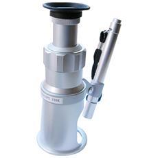 Microscopio Portatile 100x Con Illuminatore E Reticolo Di Misurazione