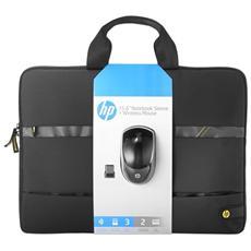 "39.6 cm (15.6"") Wireless Essentials Kit 15.6"" Valigetta ventiquattrore Nero, Grigio"