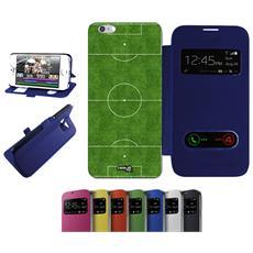 CASELABDESIGNS - Flip Cover Blu Campo Calcio Ball Per Iphone 6 Plus...