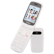 "Primus Senior Phone Display 2.4"" Micro SD Bluetooth con Tasti Grandi + SOS Colore Bianco"